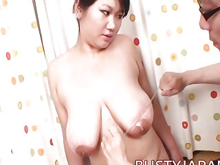 Asian with large tits having..