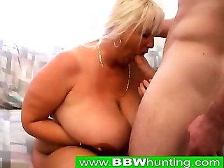 Blonde BBW Dogstyle Sex