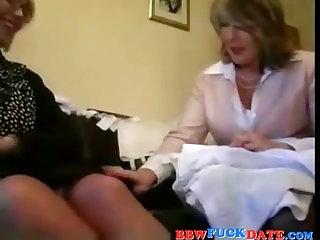 Two BBW Lesbian Grandmothers..