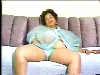 Chubby swarthy granny with..