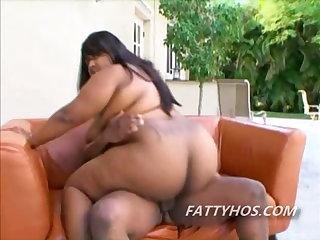Giant tits black chick sucks..