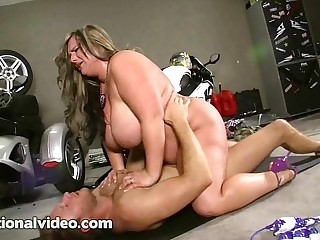 Blonde BBW Slut in Bikini is..