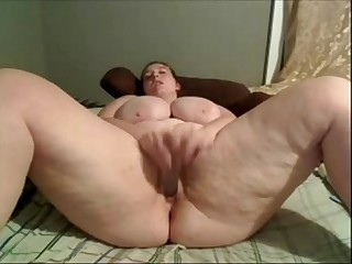 BBW Lusty dual toy orgasm