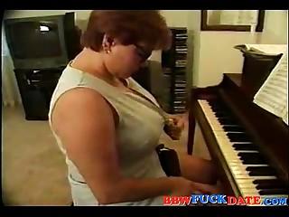 BBW Piano Teacher Fucked by..