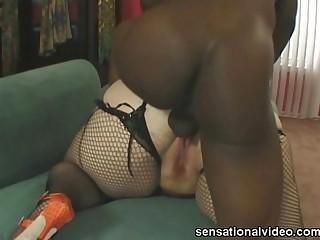 Redhead BBW Slut Sucks Big..