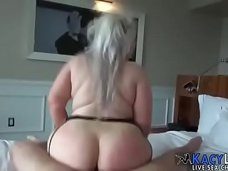 Chubby BBW Blonde with Huge..