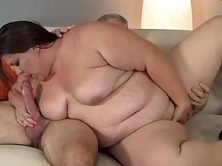 Bbw plumper fatty sucks and..