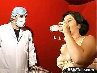 BBW mature slut in BDSM game..