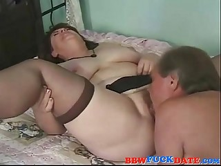 Hairy old BBW creampie by..