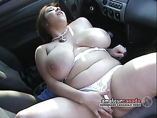 BBW with huge hanging boobs..