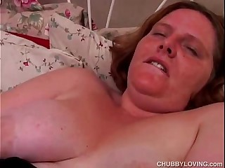 Sexy BBW amateur in fishnet..