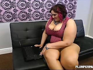 Busty BBW Fucks Strange Cock..