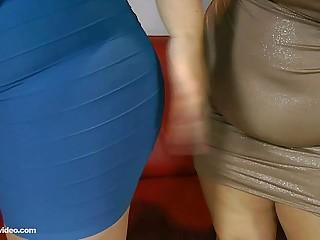 2 Busty BBW Lesbians Lick..