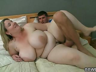 Bbw getting slammed by horny..
