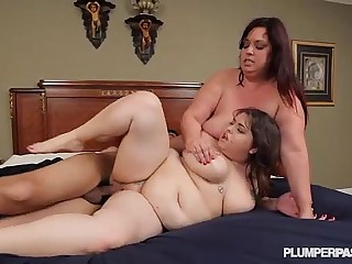 2 Huge Tit BBW Lesbians Get..