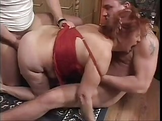 Granny BBW Ildiko Fucks Two..