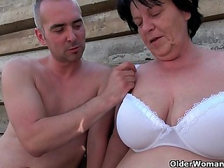 BBW granny makes the best of..