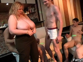 Super huge tits fatty..