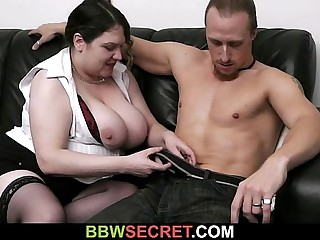 His wife leaves and BBW..
