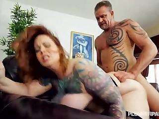 Sexy Tattooed BBW MILF Gets..