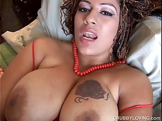 Beautiful big tits black BBW..