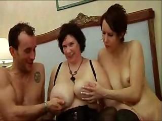 French BBW olga 3some