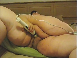 Huge Fat Lady Masturbates..