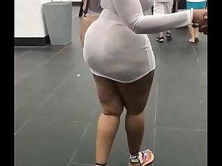 Look at fat booty walk 02