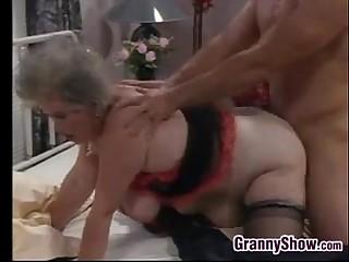 Fat European Granny And A..
