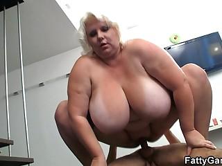 Big tits blonde sucks and..