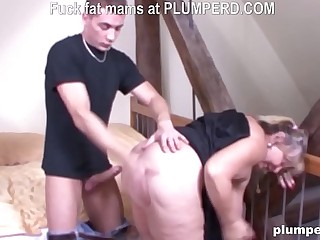 Fat German granny fucked so..