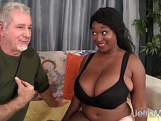 Ebony plumper Marie Leone..