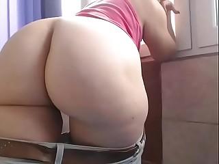 Fat ass amateur webcam show
