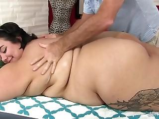 Fat ass Mia Riley dildo sex..