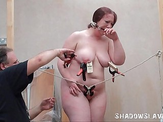 Bizarre fat slave punishment..