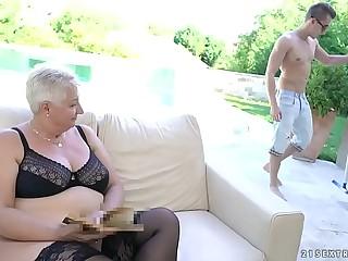 Fat grandma's tits..