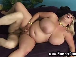 Fat bbw plumper fuck cumshot
