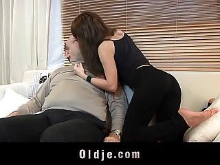 Fat old geezer fucking..