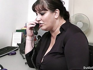 Fat secretary blowjob and..