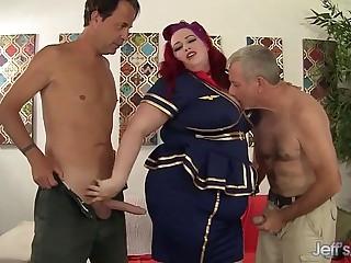 Sexy redheaded plumper Eliza..